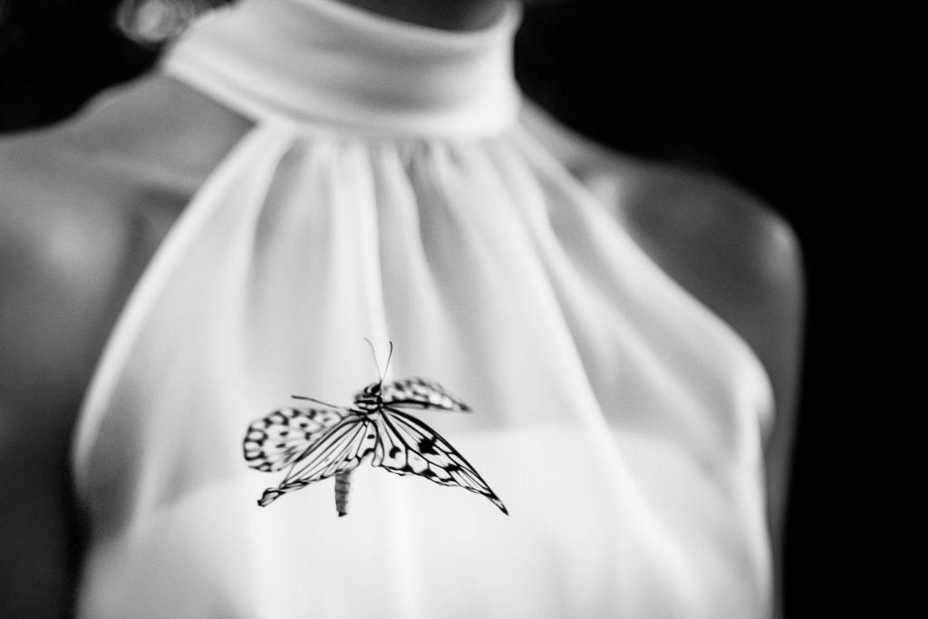 Zwart-wit foto | Trouwfoto | Bruid| Bruiloft detail