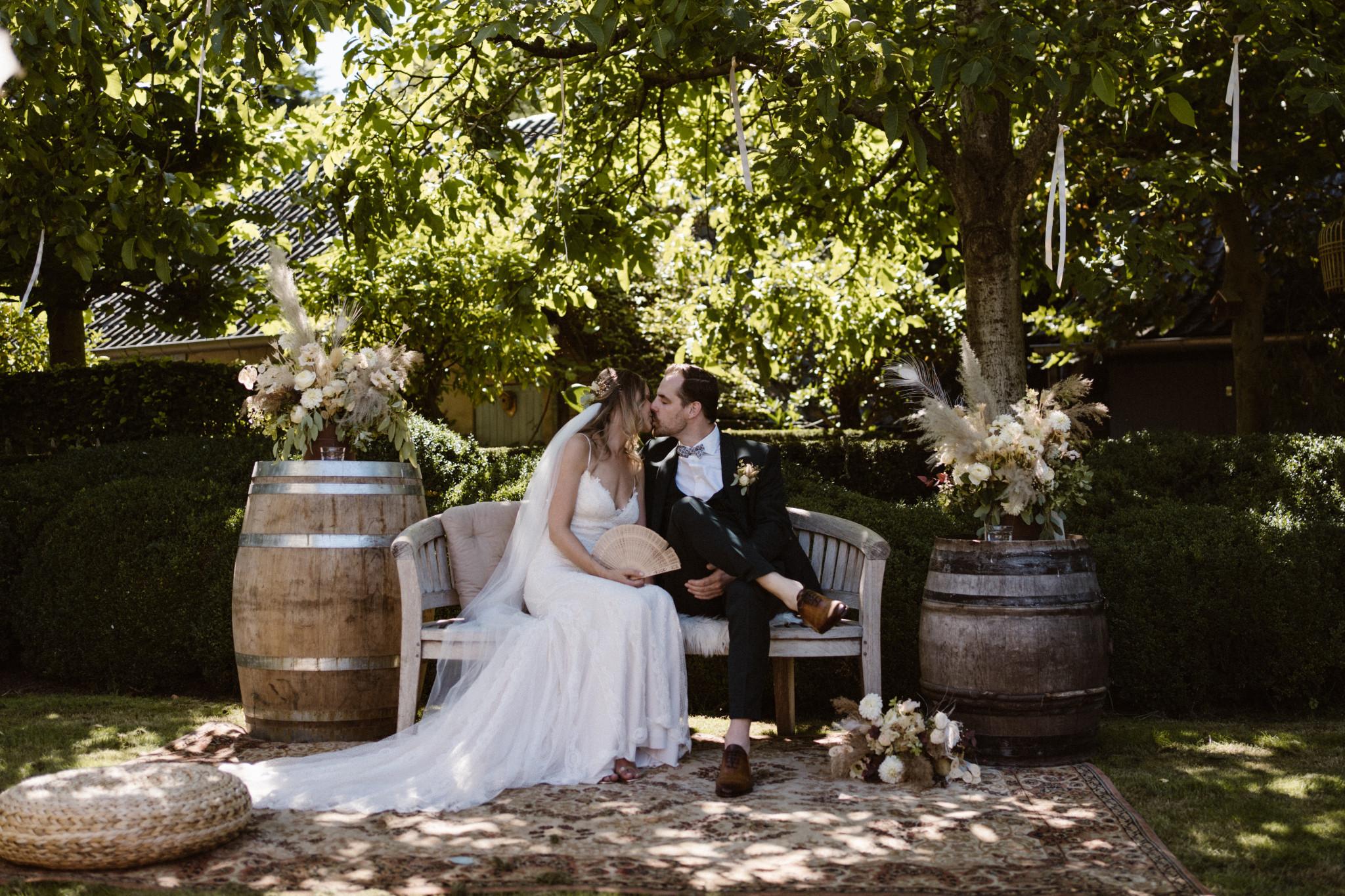 Buiten trouwen   Trouwen in de zomer   Trouwceremonie