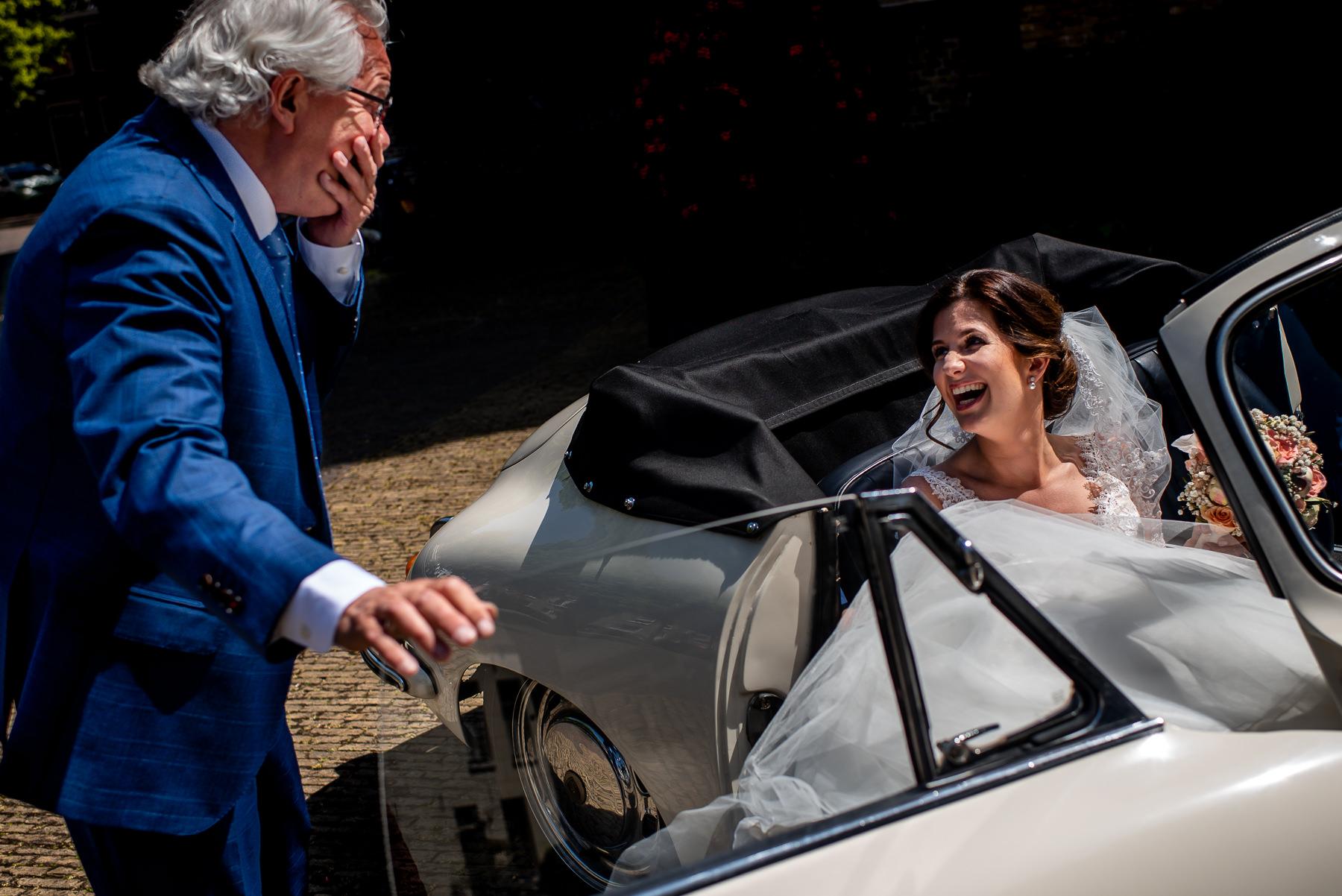 Vader van de bruid | Emotionele trouwfoto | First look | Vaders op bruiloften